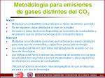 metodolog a para emisiones de gases distintos del co 2