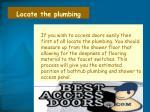 locate the plumbing