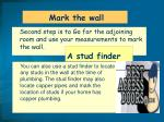 mark the wall