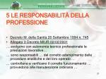 5 le responsabilit della professione