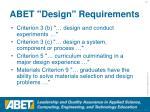 abet design requirements