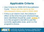 applicable criteria33