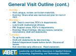 general visit outline cont