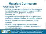 materials curriculum
