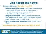 visit report and forms