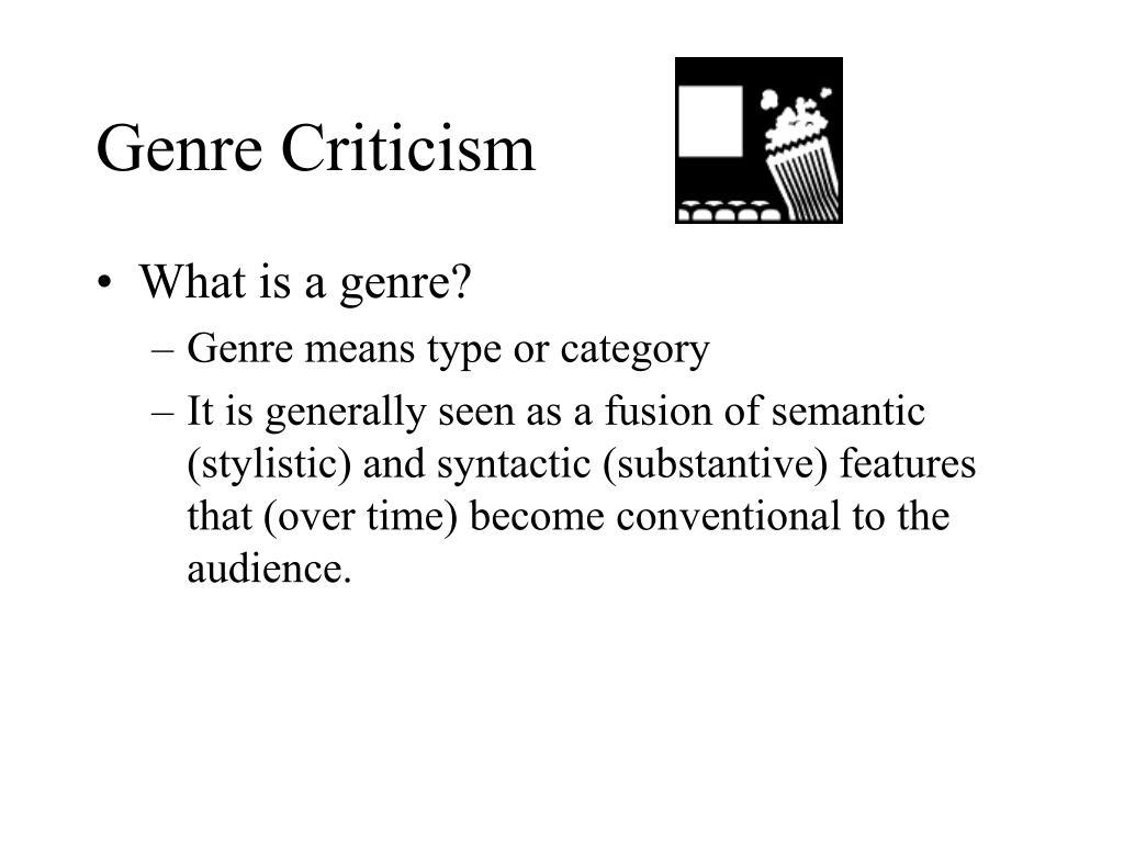 genre criticism l.