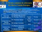 3 niveles comunes de referencia del marco com n europeo