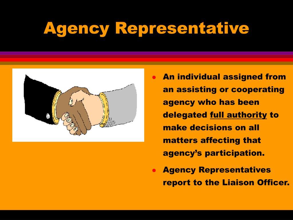 Agency Representative