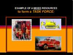 example of a mixed resources to form a task force