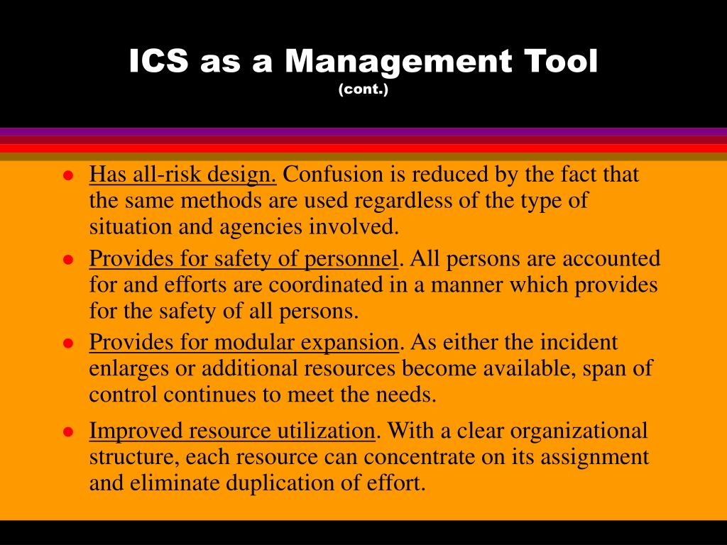 ICS as a Management Tool