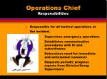operations chief responsibilities