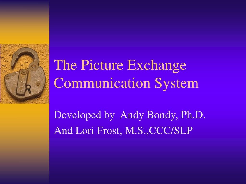 the picture exchange communication system l.