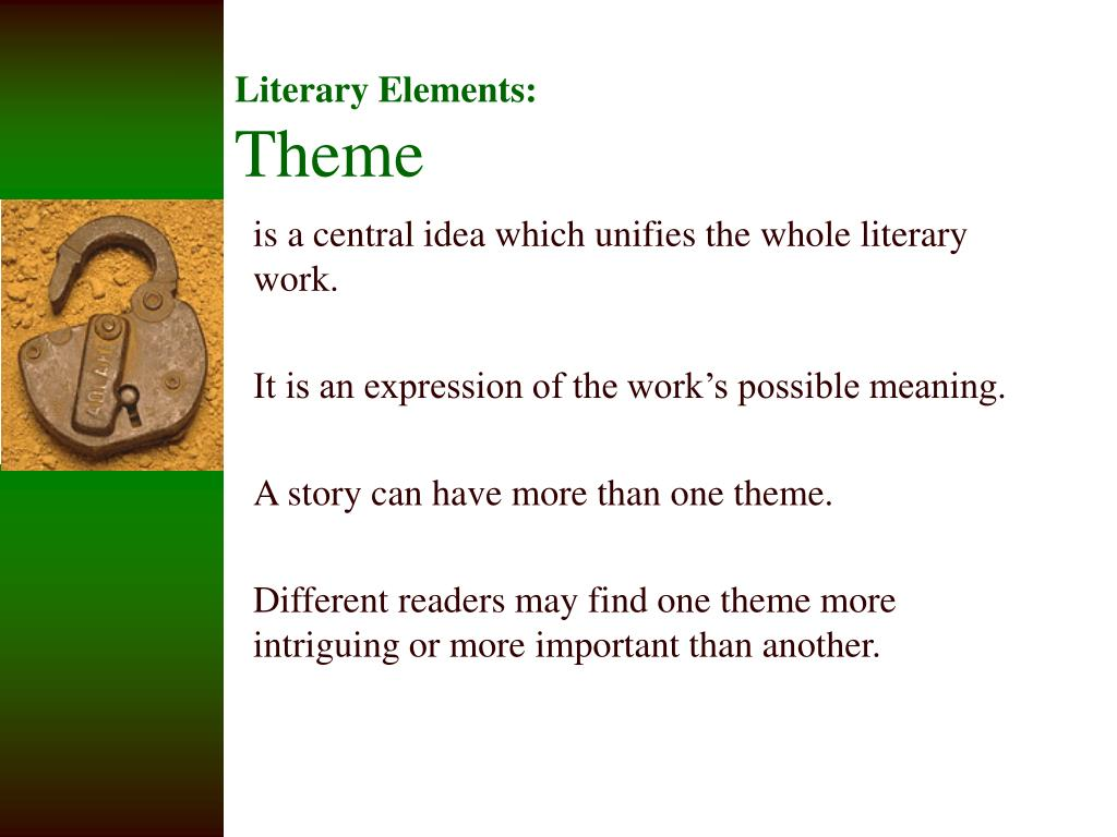 literary elements theme l.