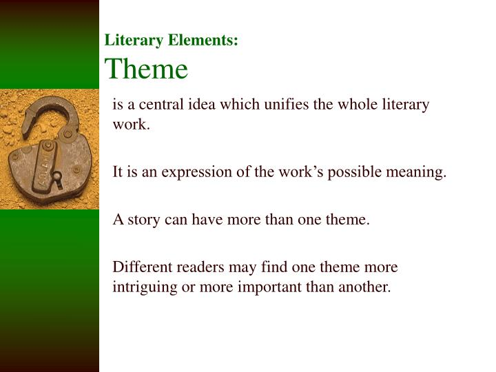 literary elements theme n.