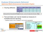 essbase enhancements delivered optimized multi dimensional calculation engine