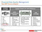 financial data quality management new erp source adapter