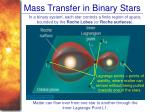 mass transfer in binary stars
