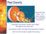 red dwarfs