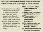 base your answer to question on the statements below and on your knowledge of social studies