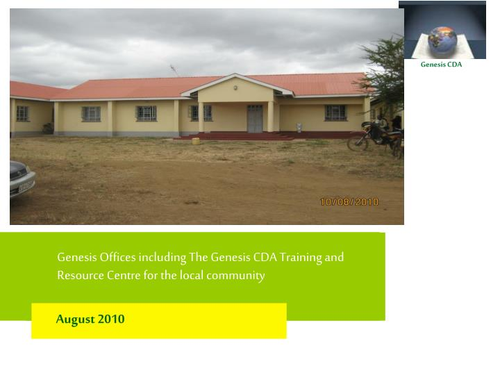genesis offices including the genesis cda training and resource centre for the local community n.