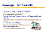 scavenger hunt examples