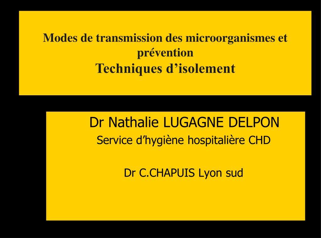 dr nathalie lugagne delpon service d hygi ne hospitali re chd dr c chapuis lyon sud l.