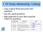 1 15 cross referencing linking