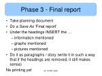 phase 3 final report