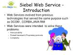 siebel web service introduction