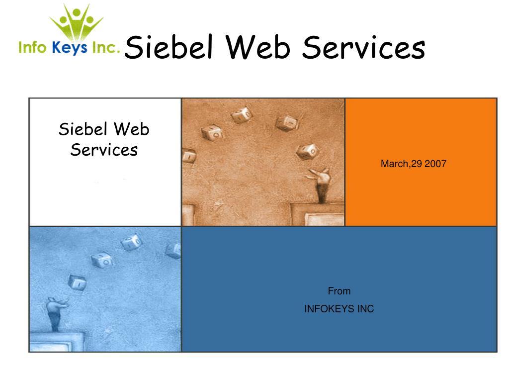 siebel web services l.