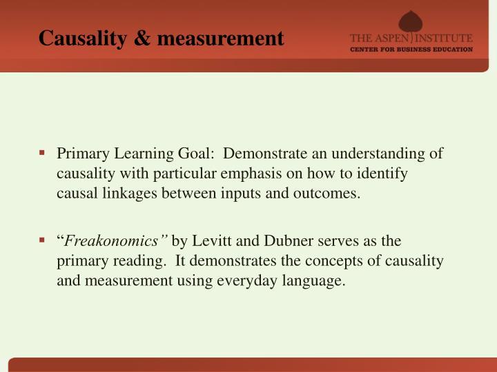 Causality & measurement