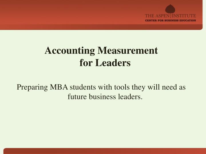 Accounting Measurement