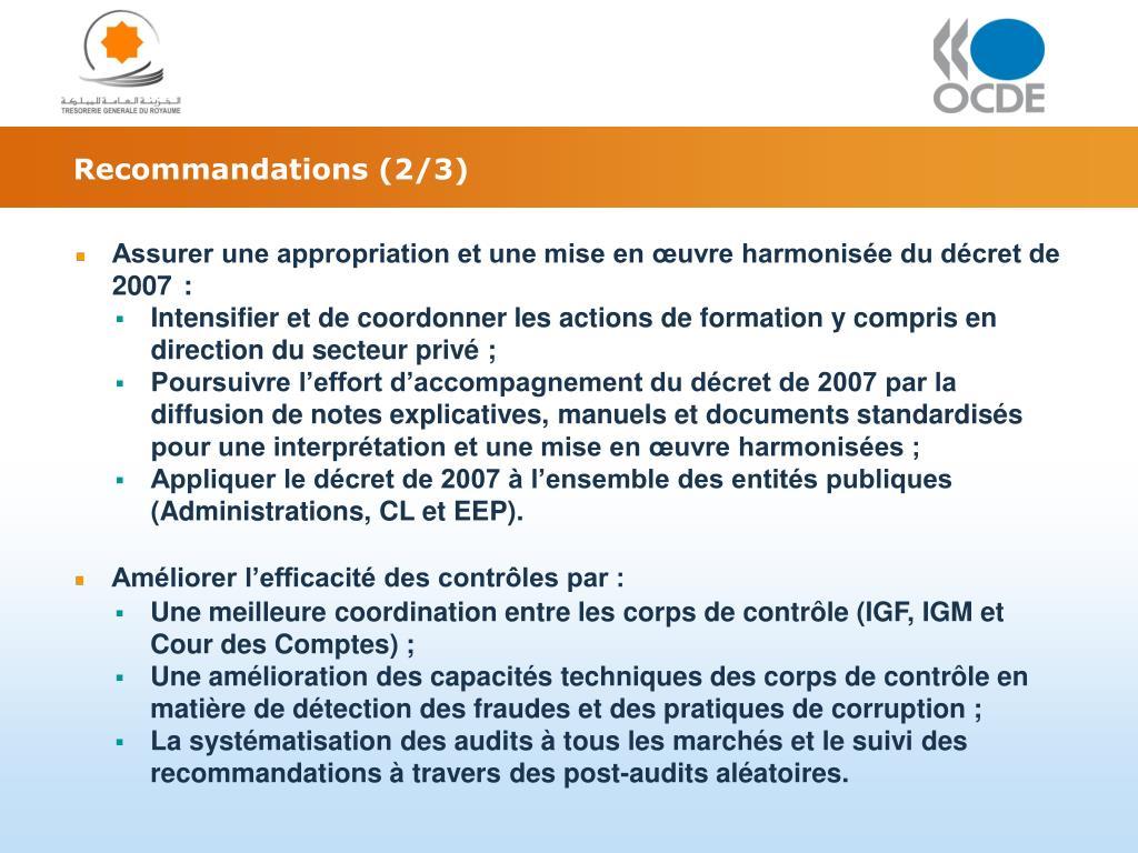 Recommandations (2/3)