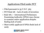 applications filed under pct