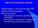 start of the shropshire outbreak