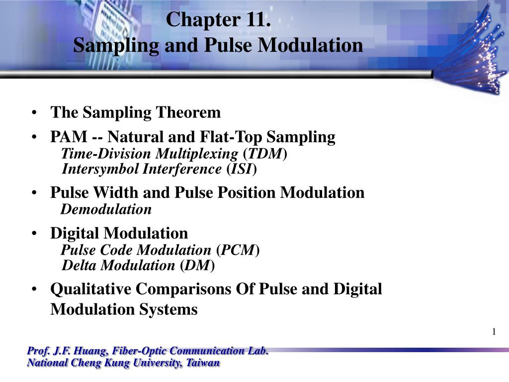 chapter 11 sampling and pulse modulation l.