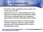 delta modulation dm