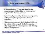delta modulation dm40