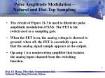 pulse amplitude modulation natural and flat top sampling