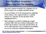 pulse amplitude modulation natural and flat top sampling12