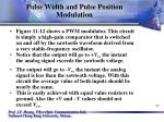 pulse width and pulse position modulation25