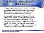 pulse width and pulse position modulation27