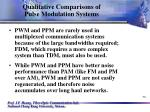 qualitative comparisons of pulse modulation systems58