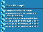coin example