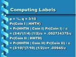 computing labels