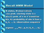 recall hmm model