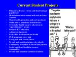 current student projects