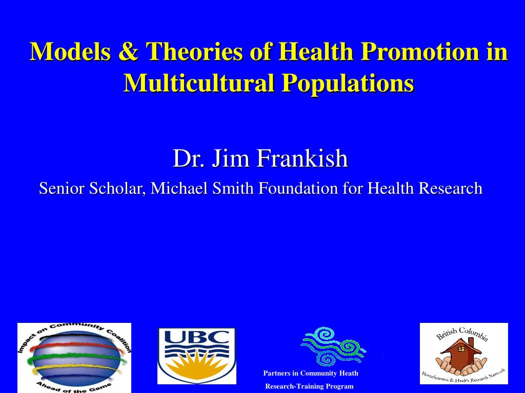 models theories of health promotion in multicultural populations l.