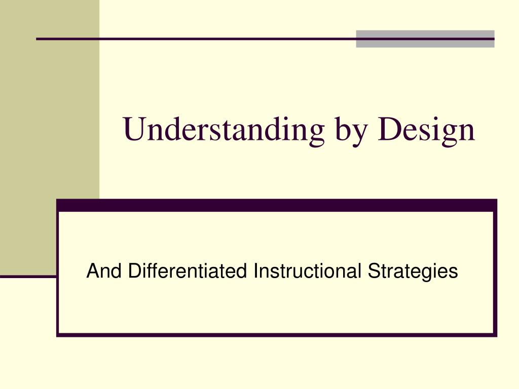 understanding by design l.