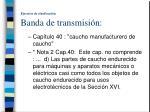 ejercicio de clasificaci n banda de transmisi n